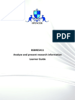 BSBRES411- Learner Guide (Book)