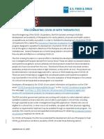20200615 Web COVID on Therapeutics_CBER CDER