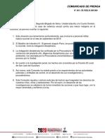 Comunicado de prensa 2020 Ejército Guaviare