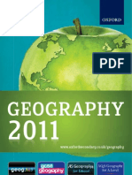 Geography Catalogue 2011