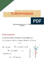 Td Biophysique 2013