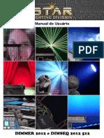 Manual - Mesa Dimmer 12 Canais e Sequencial