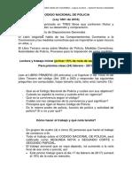 Trabajos sobre el Código de Policía -colombiano