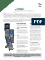 Ficha técnica del ordenador móvil MC9200