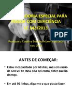 LC 142 - aposentadoria pessoa com deficiencia - aula 07.pptx