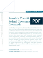 Somalia's Transitional Federal Government at a Crossroads