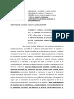 HACER EFECTIVO APERCIBIMIENTO- CASO DRA. KATHY II