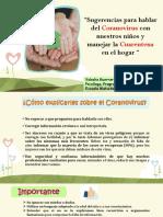 Sugerencias sobre como hablar del coranovirus y manejar la cuarentena con nuestros niños