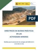 Directrices de buenas prácticas en el Sector Minero 26.04.20