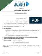 Concours_Advance_Sujet_corrige_2019_Maths