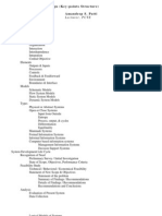 Systems Analysis & Design (Key-Points Structure)