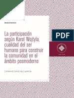 La participación según Karol Wojtyla, cualidad del ser humano para construir la comunidad en el ámbito posmoderno