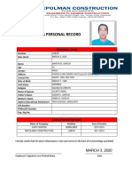 Employee's Record FORM DIGITAL