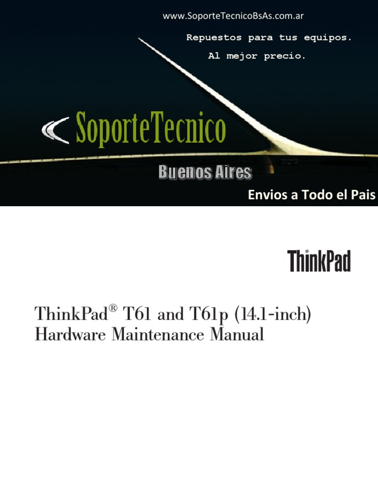 IBM - ThinkPad T61 and T61p Inch) | Electrostatic Discharge | Floppy Disk