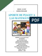 APORTE DE PIAGET A LAS MATEMÁTICAS