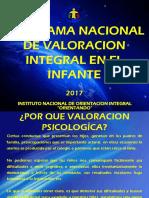 PRESENTACION PROGRAMA NACIONAL DE VALORACION INTEGRAL EN EL INFANTE - 2017