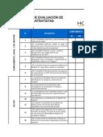 Matriz Evaluacion de Contratistas