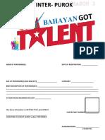 GOT Bahayan Season 2 REGISTRATION FORM