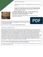 hongo endofítico productor de antimicrobianos volátiles