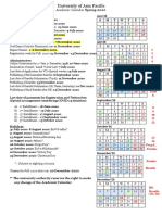 FINAL  Academic Calendar Spring 2020