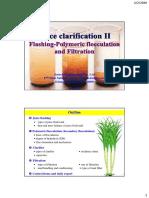 4. Clarification II- Flashing + Clarifier + Filtration