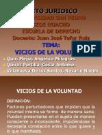 VICIOS DE LA VOLUNTAD