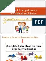 El papel de los padres en la educación de los hijos