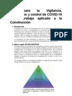 Protocolos de Reinicio de Obras Post COVID