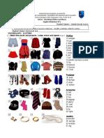 WORKSHEET 3rd grade clothes lista