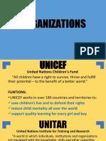 ORGANIZATIONS (UNICEF-WFC) GRP2
