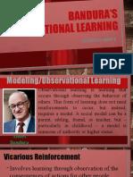 Bandura's Observational Learning