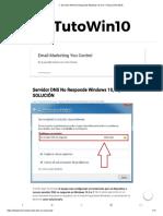 Servidor DNS No Responde Windows 10, 8 y 7 SOLUCIÓN 2019
