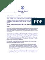 Perez v. Estrada AM. No. OI-4-O3-SC (june 29, 2001 and Sept. 13, 2001)