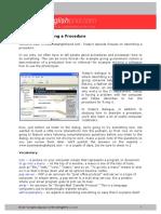 BEP038SN-Procedures