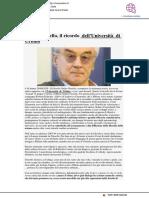 Giulio Giorello, il ricordo dell'Università di Urbino - Vivereurbino.it, 29 giugno 2020