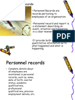Personnel Records.ppt