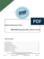 BSBCUS501 Student Assessment Tasks 20-10-16