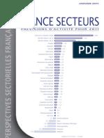 France Secteurs - prévision 2011 - LCL