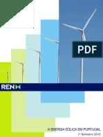 A Energia Eólica em Portugal - 1º Sem 2010