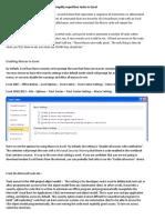 Developer Tab - Creating Macros to simplify repetitive tasks in Excel Enabling Macros in Excel
