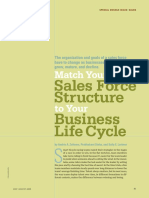 Match your sales force structure to your Business Life Cycle