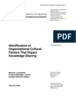 Organizational Cultural Factors That Impact Knowledge Sharing