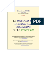 Discours Servitude Volontaire