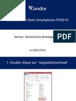 Instruction de flash Smartphone PHQ519