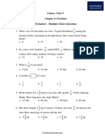 Chapter 4 Fractions Class 5