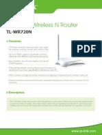 TL-WR720N_V2_Datasheet