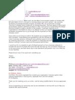 Email Correspondence for Entrepreneurship Project