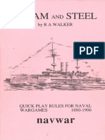 Steam and Steel. Quick Play Rules for Naval Wargames 1880-1906 by R A Walker [Navwar, 1990]
