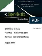 192 Thinkpad Iseries 1400