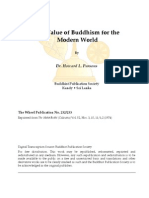 Value of Buddhism for the Modern World